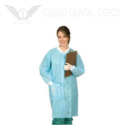 Defend Disposable Lab Coat Medium 10pcs/pkg