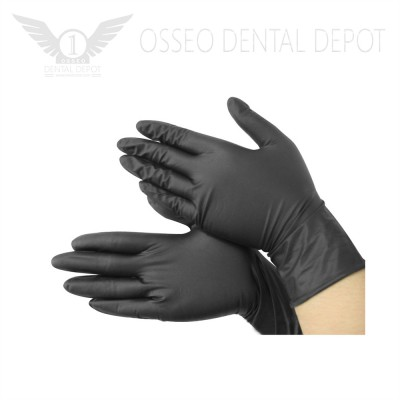 Glomed Black Tattoo Gloves, 100pcs/pkg