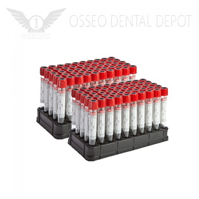 100 tubes for PRF color RED