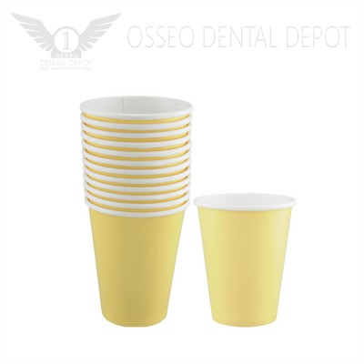 6oz Disposable Paper Cup - Yellow (50pcs/case)