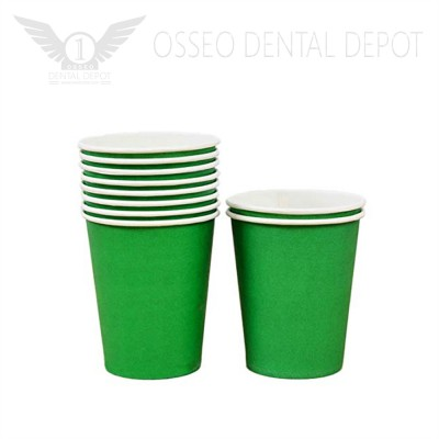 6oz Disposable Paper Cup - Green (50pcs/case)
