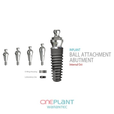 FIT/FHT, Ball Attachment Abutment for Overdenture Implant
